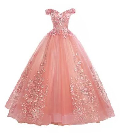 pink ball gown