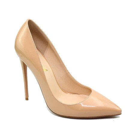 New Fashion Shoes Ladies Nude Patent Leather Pencil High Heels Big Size Women Stiletto Pumps - Buy Women Stiletto Pumps,Pencil High Heel Shoes,Big Size Women Pumps Product on Alibaba.com
