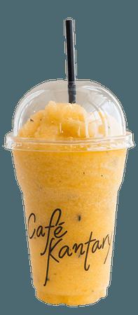 Mango Paradise Smoothie (Mango + Banana + Passion Fruit + Orange)  | Saraburi | Café Kantary