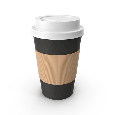 Black Paper Coffee Cup White Lid PNG Images & PSDs for Download | PixelSquid - S111573793