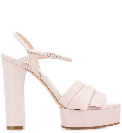 draped platform sandals