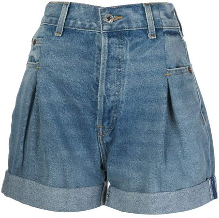 upturned hem shorts