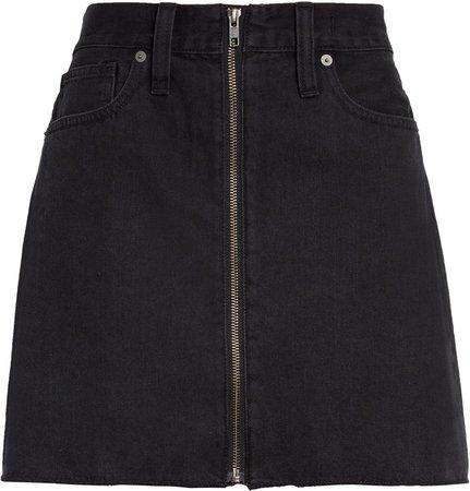 Rigid Denim Miniskirt