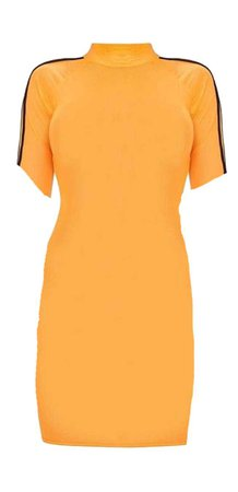 orange body-con dress
