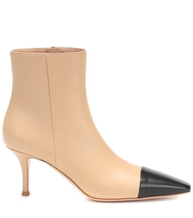 Lucy Leather Ankle Boots - Gianvito Rossi | Mytheresa
