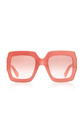Gucci Sunglasses Pop Web Acetate Square-Frame Sunglasses