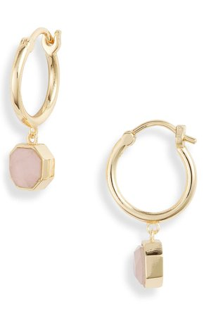 gorjana Power Stone Charm Huggie Earrings | Nordstrom