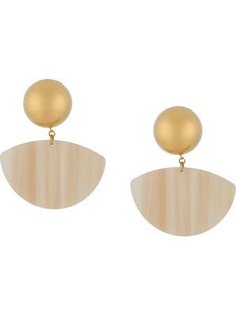 Rachel Comey Large Disk Earrings Ss20 | Farfetch.com