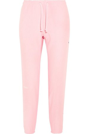 Vetements + Champion cotton-blend jersey track pants Pink women Clothing,vetements swag buy,vetements sweatshirt,beautiful in colors, vetements clothing Buy Online