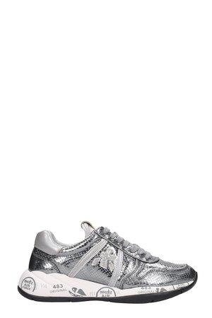 Premiata Layla Sneakers In Silver Leather