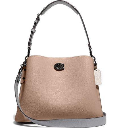 COACH Willow Colorblock Leather Shoulder Bag   Nordstrom
