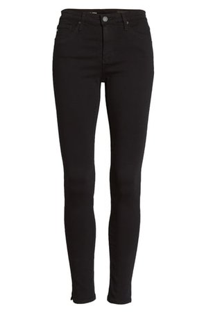 AG Legging Ankle Jeans (Super Black) | Nordstrom