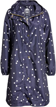 Women's Weybridge Polka Dot Packable Waterproof Raincoat