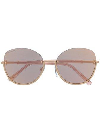 Bvlgari semi-rimless Sunglasses