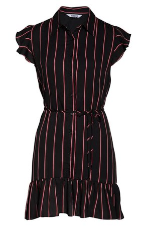 BB Dakota City Lines Stripe Shirtdress | Nordstrom