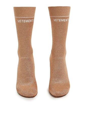 Lighter-heel sock ankle boots | Vetements