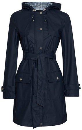 Navy Raincoat Mac