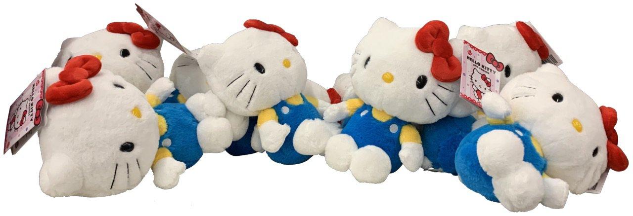 pile of hello kitty plushies