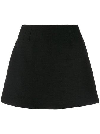 Valentino Crepe Couture Mini Skirt