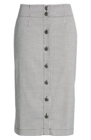 Chelsea28 Check Button Front Skirt | Nordstrom
