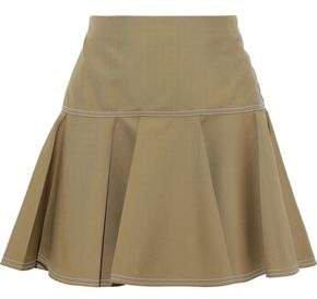 Flared Woven Mini Skirt