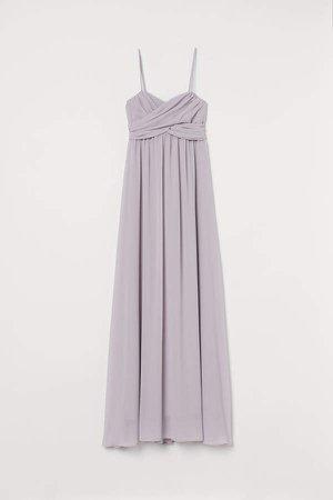 Long Bandeau Dress - Purple