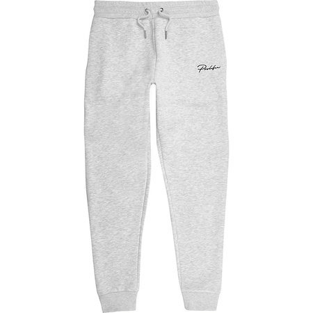 Grey Prolific slim fit joggers | River Island