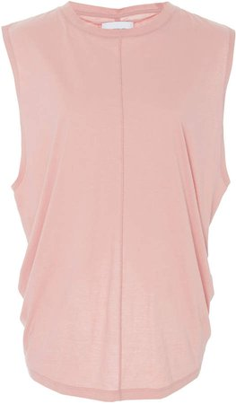 Ruched Cotton-Jersey Tank Top