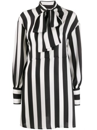 Black & white MSGM striped shirt dress - Farfetch