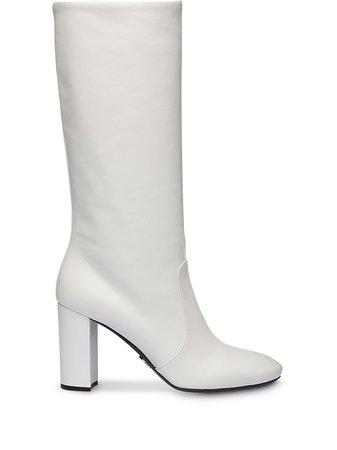 Prada Chunky Heel Boots - Farfetch