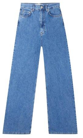 blue Wide-leg jeans - Women's Just in | Stradivarius United States