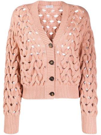 Brunello Cucinelli Cable Knit Buttoned Cardigan - Farfetch