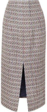 Metallic Tweed Skirt - Light gray