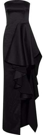 Aryana Strapless Ruffled Duchesse Satin Gown
