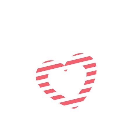 heart striped