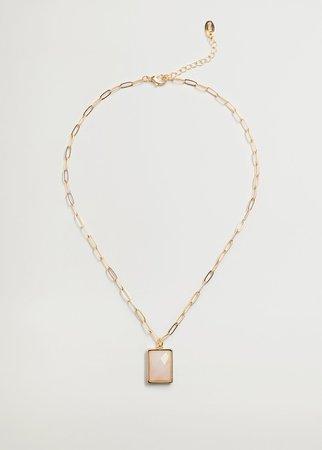 Pendant long necklace - Woman   Mango Slovakia