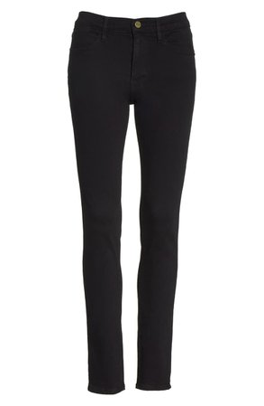 FRAME Le High Skinny Jeans (Film Noir) black