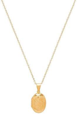 Natalie B Jewelry X REVOLVE Oval Gold Locket in Gold | REVOLVE