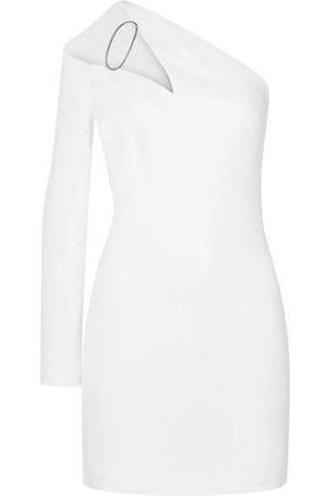 Cushnie - One-shoulder Cutout Cady Mini Dress - White