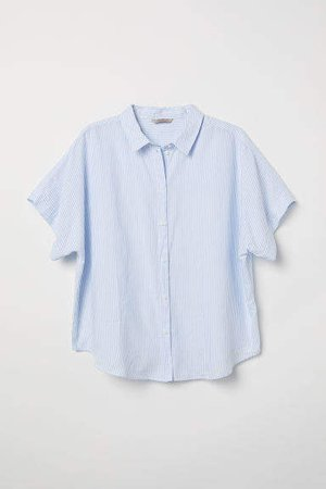 H&M+ Cotton Shirt - Blue