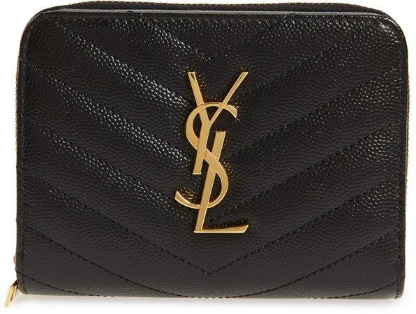 Monogramme Compact Quilted Zip Around Wallet