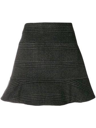 Ganni Checked Mini Skirt - Farfetch