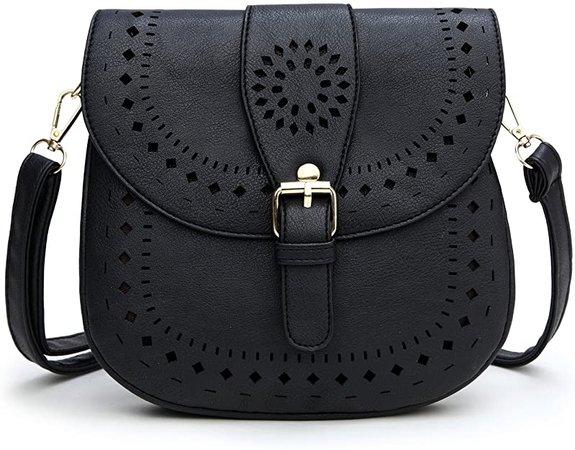 Forestfish Ladie's PU Leather Vintage Hollow Bag Crossbdy Bag Shoulder Bag (Brown): Handbags: Amazon.com