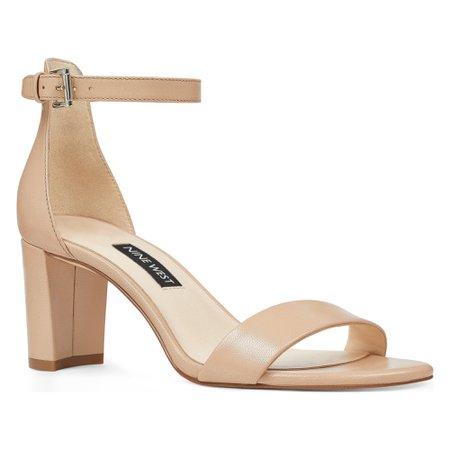Pruce Ankle Strap Block Heel Sandals - Nine West