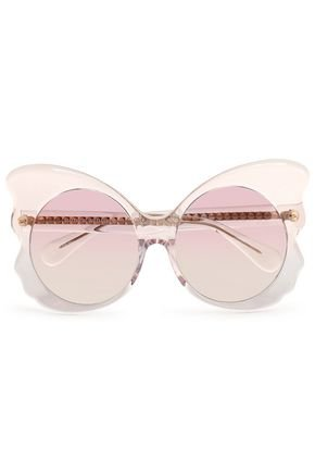 MATTHEW WILLIAMSON Embellished Butterfly-Frame Sunglasses