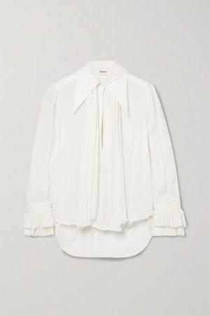 Nia Silk-georgette Blouse - Ivory