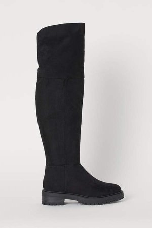 Knee-high Boots - Black