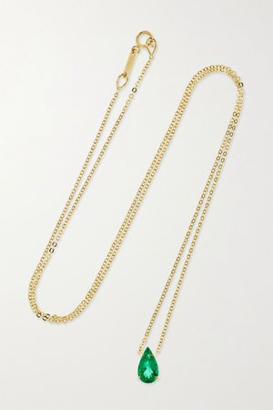 Gold 18-karat gold emerald necklace | Anita Ko | NET-A-PORTER