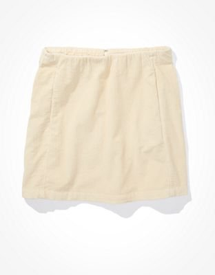 AE Structured Mini Skirt cream