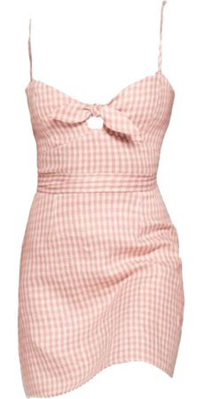 pink checker dress